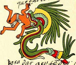 This one's Quetzalcoatl. The Aztec Gods sure were scary.