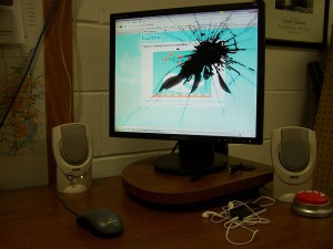 Some of the people out there are so angry, it's a wonder their computers don't end up like this after a day or so of posting. -Image by Josh Miller